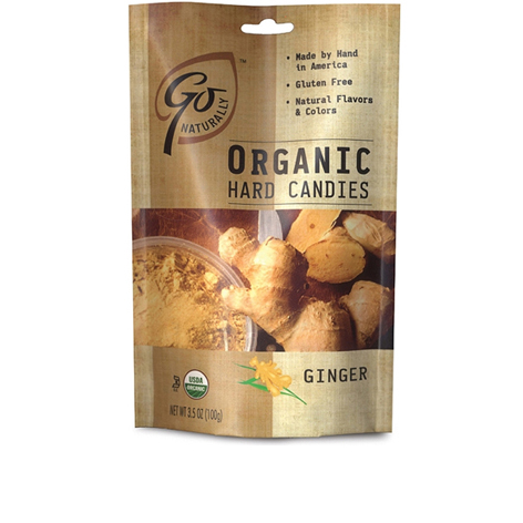 GL520 - Organic Ginger Candy 100 gm 6ct tray
