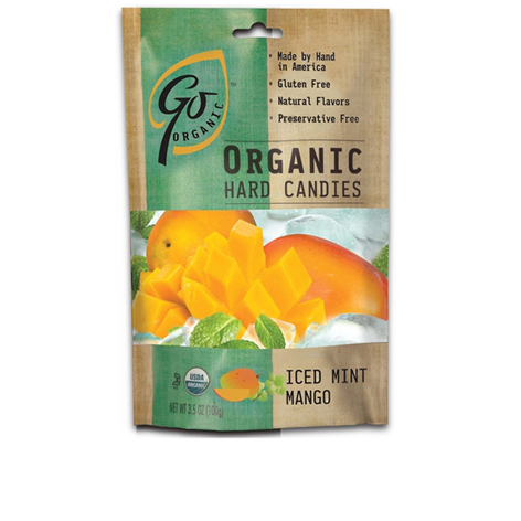 GL527 - Organic Iced Mint Mango Candy 100 gm  6ct Tray