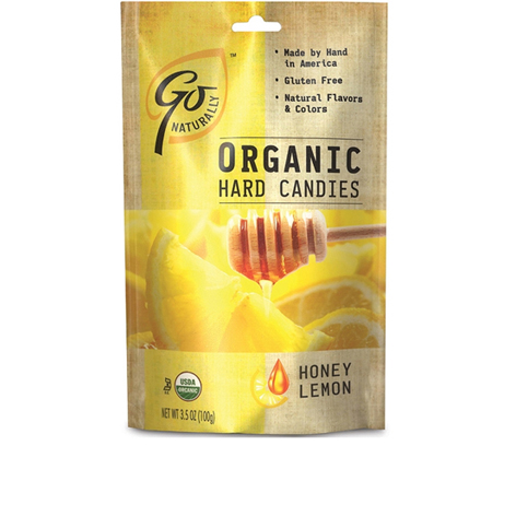 GL525 - Organic Honey Lemon Candy 100 gm 6ct tray