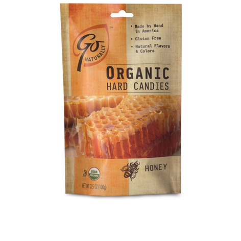 GL524 - Organic Honey Candy 100 gm 6ct tray